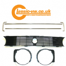 Mk1 Golf Single Lamp Grille Set With Chrome Trim